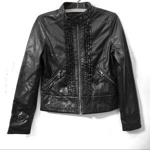 Rampage Jackets & Coats - NWOT Rampage Ruffle Moto Jacket